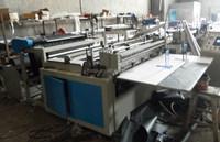 non-woven label folding embossed cross cutting machine
