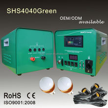 Hot sale portable home lighting solar system 40W 50W 60W with mobile solar charger
