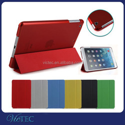 Wholesale For iPad mini Case,Smart Leather Cover Crystal Back Case for iPad mini 123