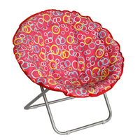 LG-BA-501 Yongkang LanGe Steel and Polyester fabric adult and kids folding chairs folding moon chairs