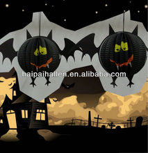 Portable accordion hanging Spider Lantern for Halloween