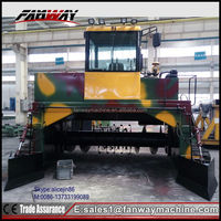 Fanway factory cost-effective windower compost turner machine/composting equipment/compost turner
