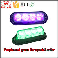 Vehicle Surface Mount Strobe Warning Light/High Intensity Prolific DR4 LED grille Lighthead purple and green TBF-4691C4