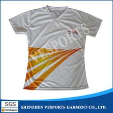 Latest design sublimation women short sleeve t shirt