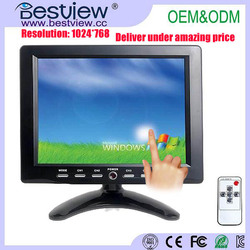 8 inch mini LCD touch screen monitor with HDMI