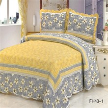 Fashion new design pretty elegant home textile top quality bed sheet hand work