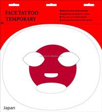 AB011 Japan Tattoo Sticker Temporary flag Mask stickers flag face Tattoo Sticker