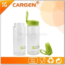Plastic BPA free low MOQ portable sport drinking bottle with wide mouth