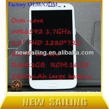 mtk6592 octa-core gsm/wifi gps tv dual sim mobile phone digital mobile