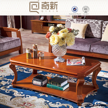 Rubber wood Europe style living room furniture end table