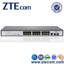 ZTEcom gigabit Layer 2 redundant power supply 24 port poe switch