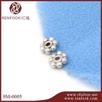 Hot sale flower shape 925 silver magnetic end caps jewelry