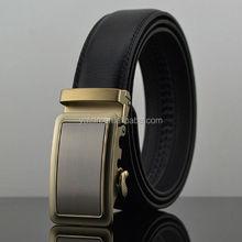 at1139 3.5cm gold buckle autolock cowhide genuine leather belt,no hole belt for men