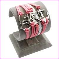 2015 yiwu jewelry charm multilayer bio magnetic leather bracelet silver infinity bracelet