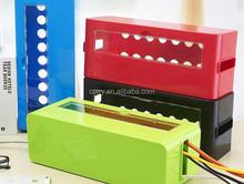Multi Power Plug Socket Anti-dust Storage Box Cable/Wire/Cord Organizer Box