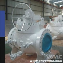 API6D Casting Steel Gear Operated Flanged Type Top Entry Ball Valve