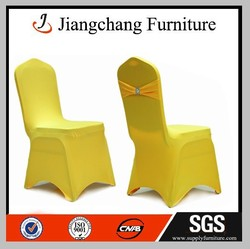 Restuarant Jacquard Yellow Chair Cover JC-YT273