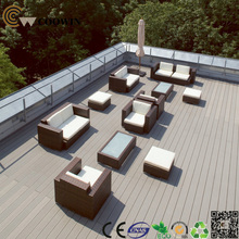 Eco Friendly Composite Decking Designed for Roof Garden Project