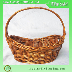 Factory wholesale oval honey willow/wicker basket fruit/vegetable storage basket with handle