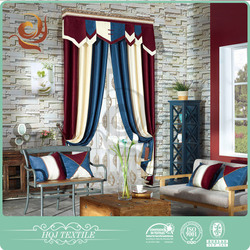 2015 new arrival Dyed Luxury window curtain with blackout for hotel in usa