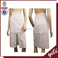 Latest women cotton long work sumamer skirt design YL45897358D