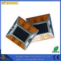 High Lumen IP68 Waterproof Garden Cat Eye Dock Deck Solar Road Stud Glass Road Stud