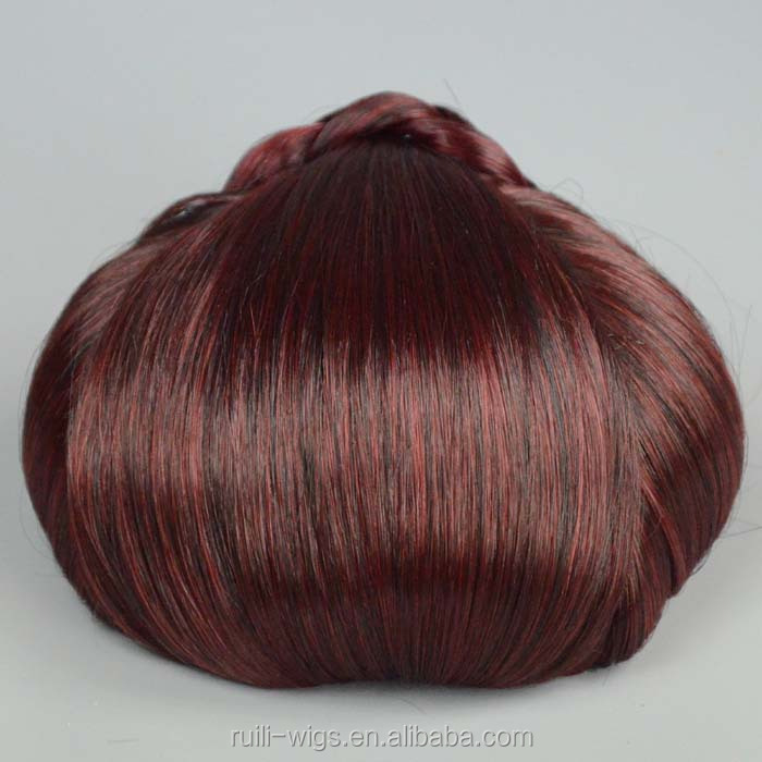 Highest quality with low price non remy hair chignon hair bun