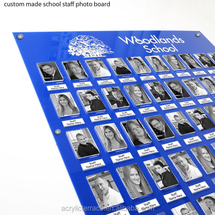 Custom Made Acrylic Perspex Staff Boards With Name Pockets