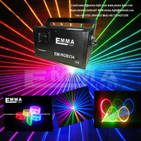 1.2W 1200mW more than 1W RGB laser with professional PT20kpps scanner and analog modualtion dj laser light/disco light
