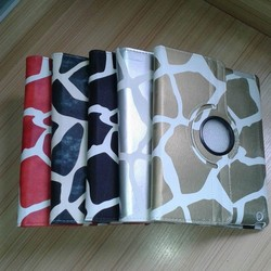 New 360 Rotating Giraffe PU Leather case for iPad 2 3 4 ,for iPad Smart Cover Case