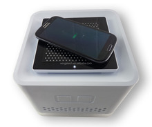 Portable Air purifier + QI wireless cell phone charger