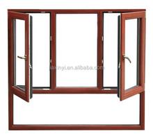 WOODEN GRAIN ALUMINUM CASMENT WINDOW WITH THERMAL BREAK ALUMINUM CASEMENT WINDOW WITH AWING FIXED WINDOW