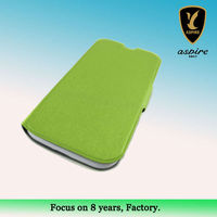 high quality leather case for samsung galaxy s4 with card slot made of PU cover for mobilr phone