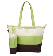 Multi-functional Mommy Bag Stripes Diaper Bag Totes Women's Shoulder Bag
