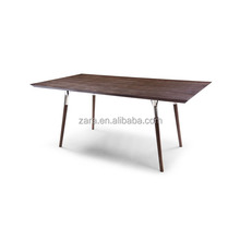 european style solid wood metal legs dining table antique style split dining table
