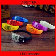 World cup 2014 high quality glow in the dark sound activated light up bracelet