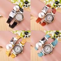 In Stotck Women Ladies Quartz Retro Design Bracelet Wrist Watch