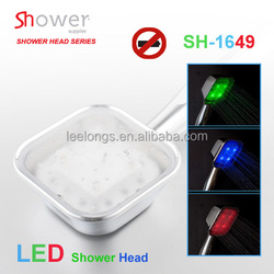 SH-1649 Bathroom Single Functional Plastic Handheld LED Shower Head