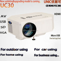 Latest!!!UC30 power bank supply power 1080p support china multimedia projector