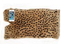 China wholesale real rex rabbit fur skins in leopard pattern