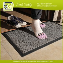 Welcome door entrance durable anti slip rubber floor mat,pp mat