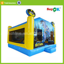 used commercial giant construction fire truck inflatable bounce house
