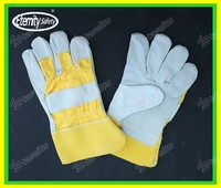 "Safety work glove 10.5"" industrial leather hand gloves China Eternity glove new designer make"