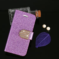 For Apple iphone 5G 5S Diamond Mobile Phone Leather Case