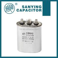 (aluminum shell 2pins or 3pins or 4pins style) CBB65-A06 Motor 8uF Refrigerator Capacitors