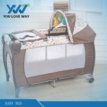 Nuevos productos calientes para 2015 bebé cama trineo cama cunas