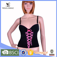 High Quality Push Up Latex camisole sexy women corset latex bodysuit