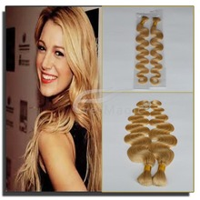 stock!!#613 light blonde color popular color rich experience tangle free shedding free body wave hair bulk