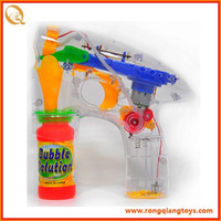 Hot selling kids funny transparent soap bubble gun toy BB269008898W