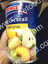 Tropical Canned fruits cocktail in light syrup and in can